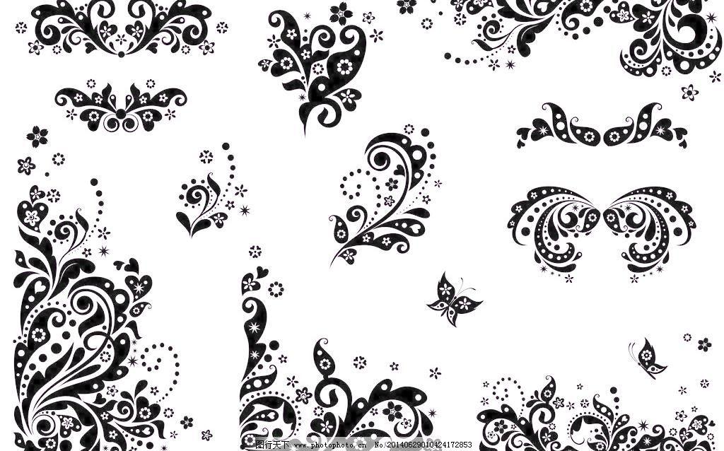 欧式花纹边框 花纹花边 手绘 线条 欧洲 墙绘 移门图案 底纹边框 矢量