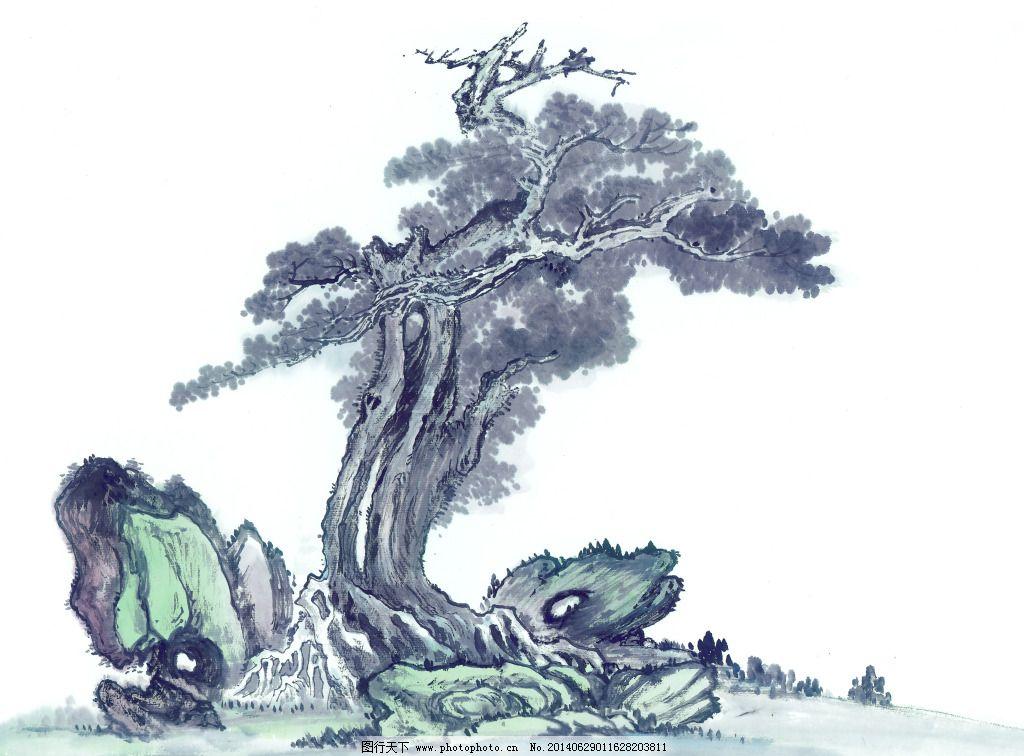 幼儿园美术作品松树
