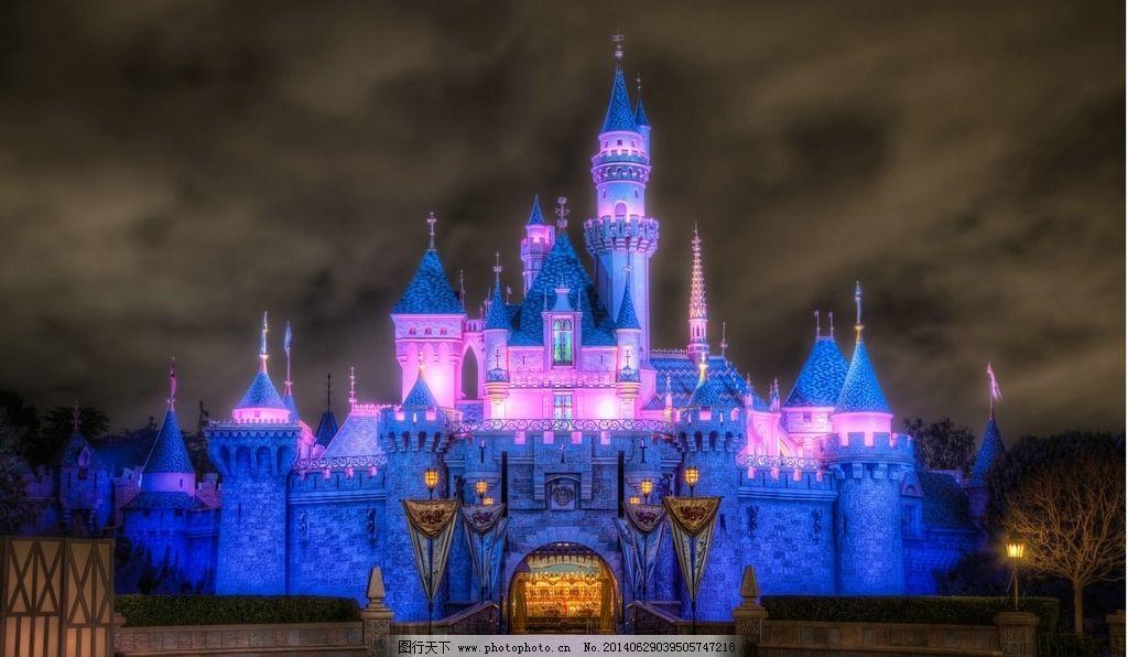夜色里的梦幻城堡图片