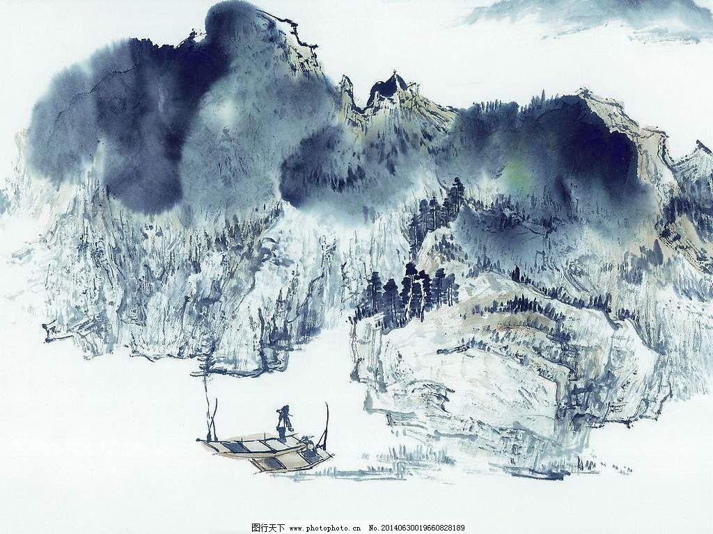 山水画 山水画免费下载 背景 壁纸 工笔 国画 蝴蝶 绘画 泼墨