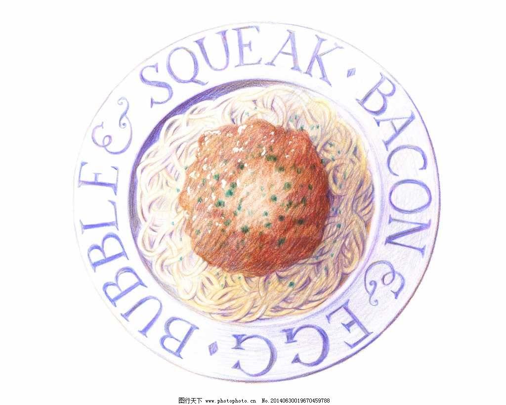 手绘面条免费下载 彩铅画 绘画 食物 手绘 水彩 西餐 艺术 手绘面条
