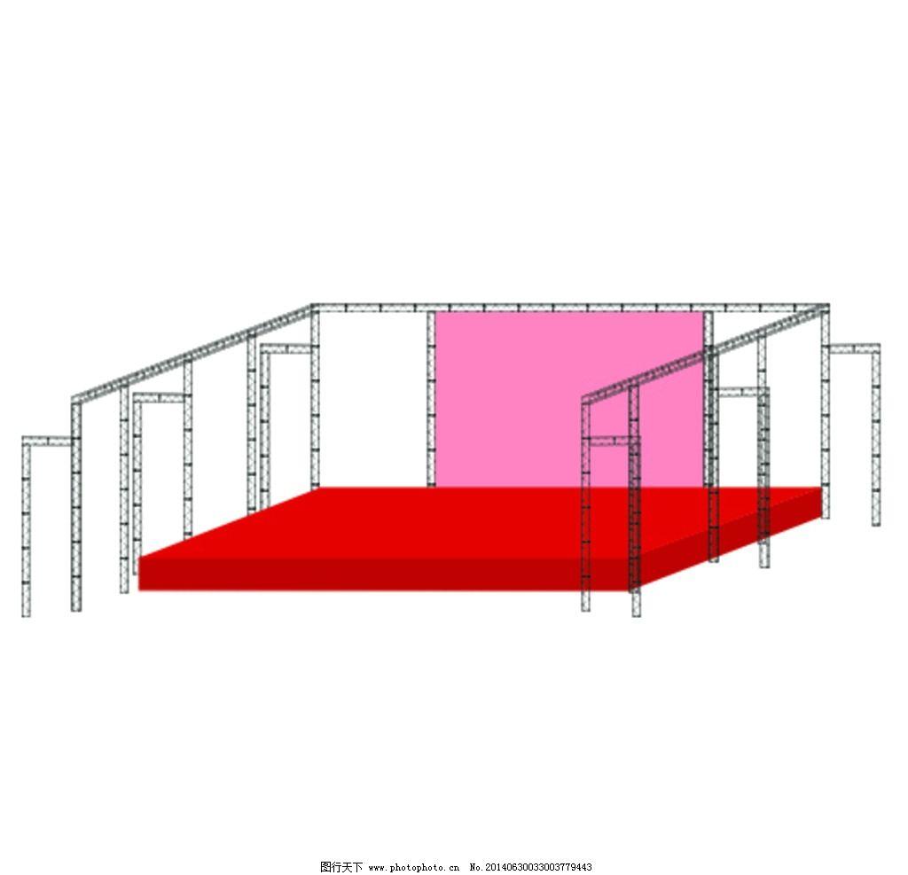 效果图 舞台/舞台桁架效果图图片