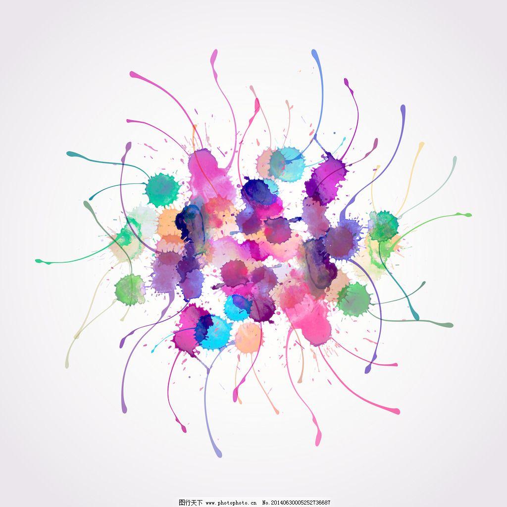 摘要手绘水彩背景免费下载 摘要手绘水彩背景 矢量图 花纹花边
