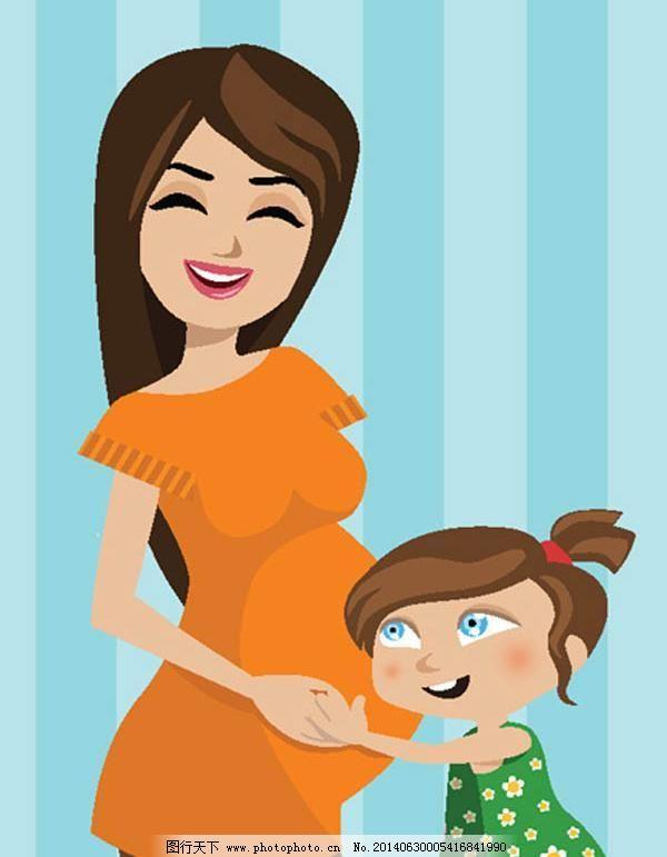 可爱卡通妈妈矢量图7