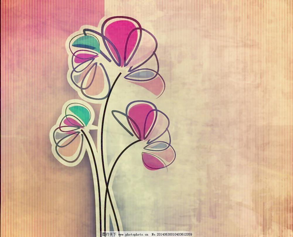 底纹边框 花边 花草 花朵 花卉 花纹 手绘花卉 花卉 花边 卡片 水墨
