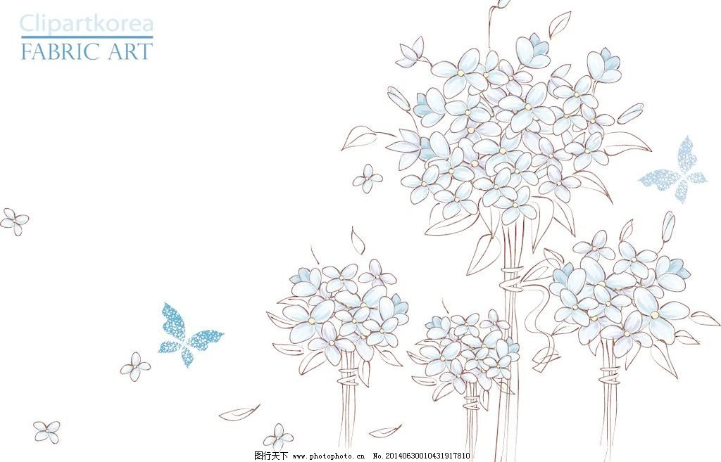 手绘花纹花卉