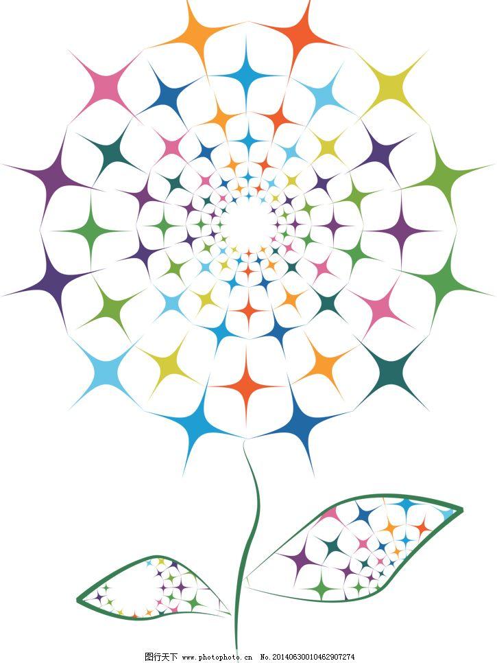 彩色花卉 底纹 底纹边框 电视墙 彩色花卉 壁画 墙画 客厅画 装饰画