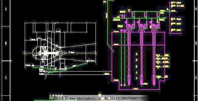 水电站检修排水系统设计图免费下载 建筑设计 水电站 图纸 系统 水电