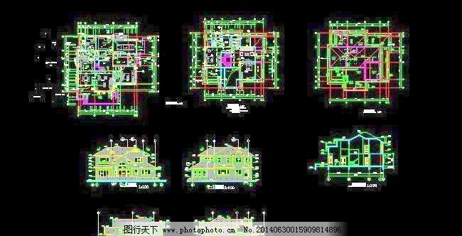 新农村带露台现代风格别墅设计图15x14