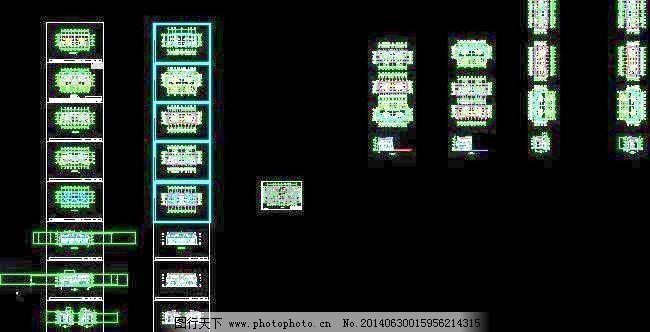 某市潘华双岛湖御园三层双拼别墅施工设计图28x11