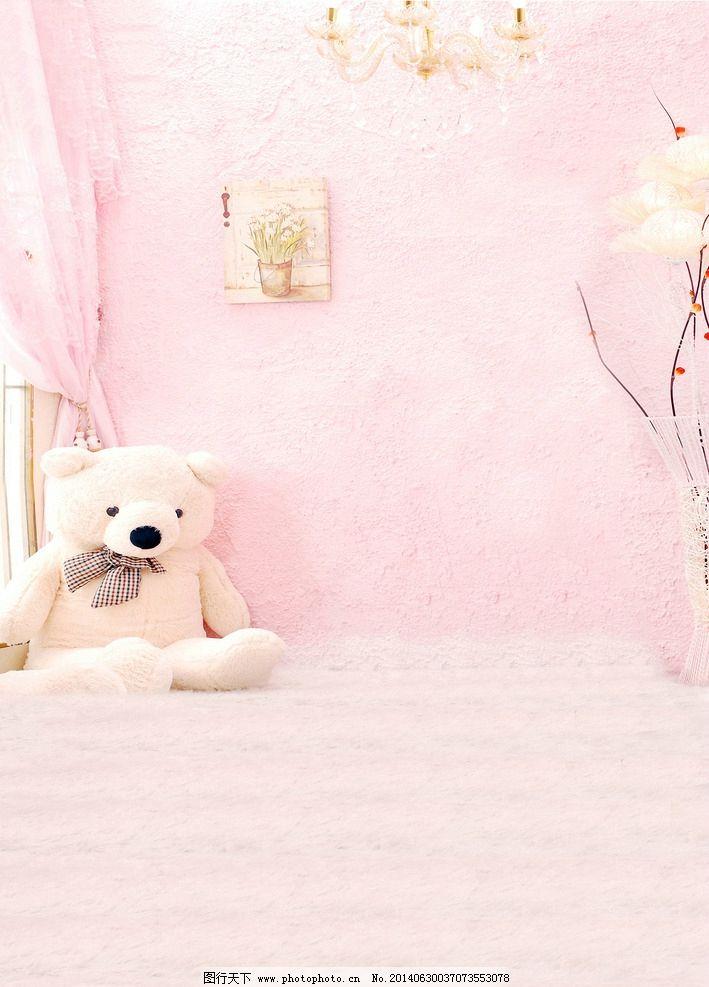 粉色可爱小熊背景图片