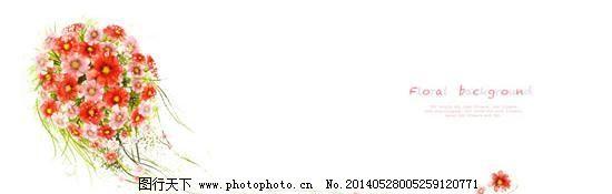 彩色球形花朵花纹PSD分层素免费下载,红色花朵,花卉,花藤,绿色,绿叶,藤蔓