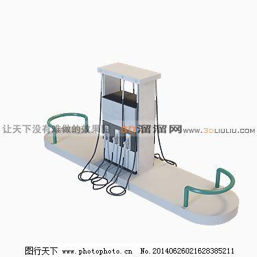 3D加油站模型免费下载,max9,户外建筑,室外,现代,有贴图,一