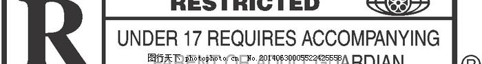 LOGO大全,logo设计欣赏,商业矢量,矢量下载,Motion_Picture_Association_of_America_-_R_Rating,Motion_Picture_Association_of_America_-_R_Rating经典电影标志下载标志设计欣赏,网页矢量